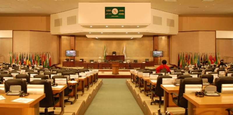 The headquarters of the Pan African Parliament in Midrand, South Africa.