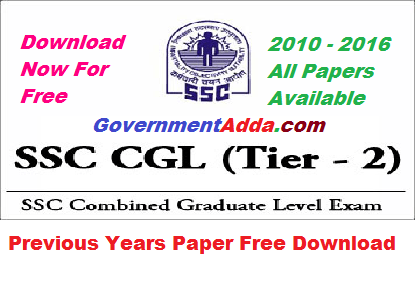 Year tier paper cgl 2 pdf ssc question previous