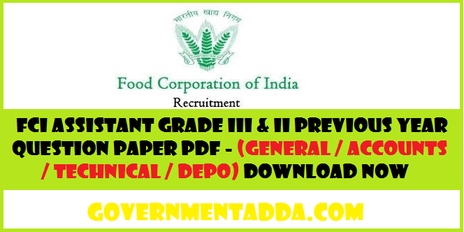 Fci Model Papers Pdf