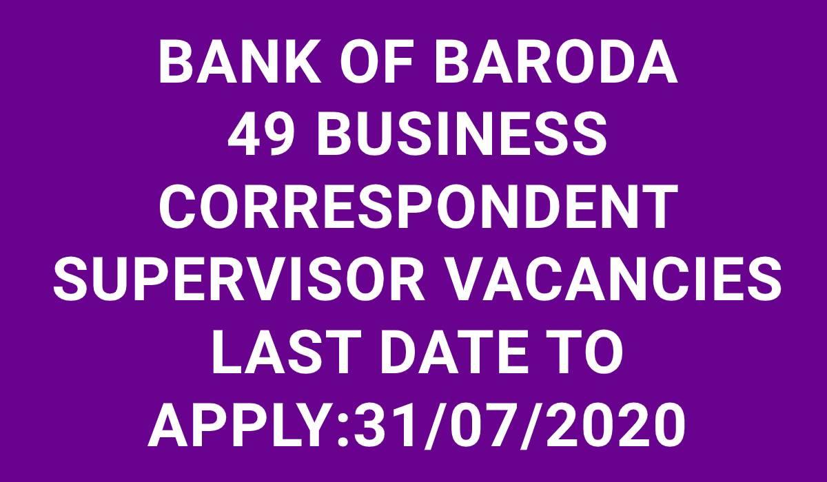 Bank of Baroda Recruitment 2021 notification