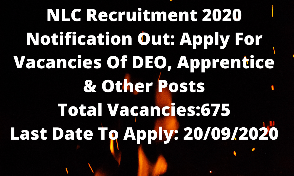 NLC Apprentice Recruitment 2020