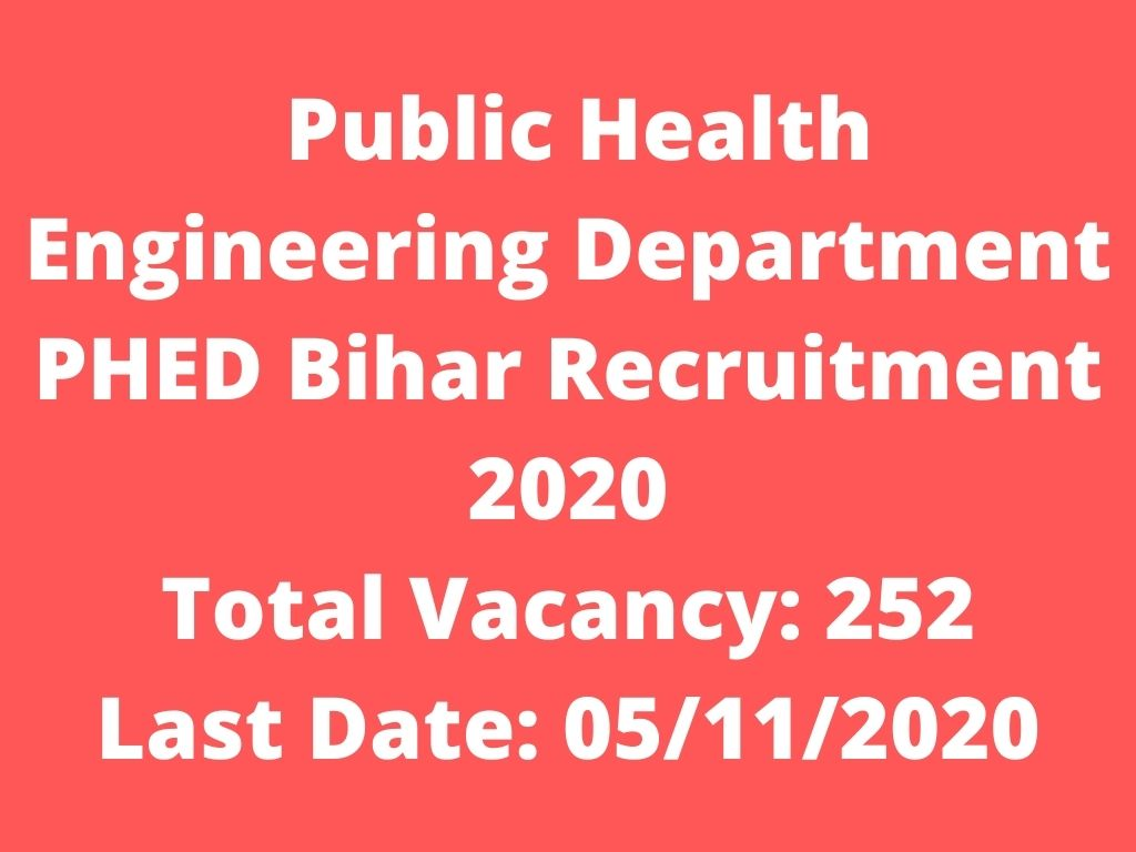 phed recruitment 2020