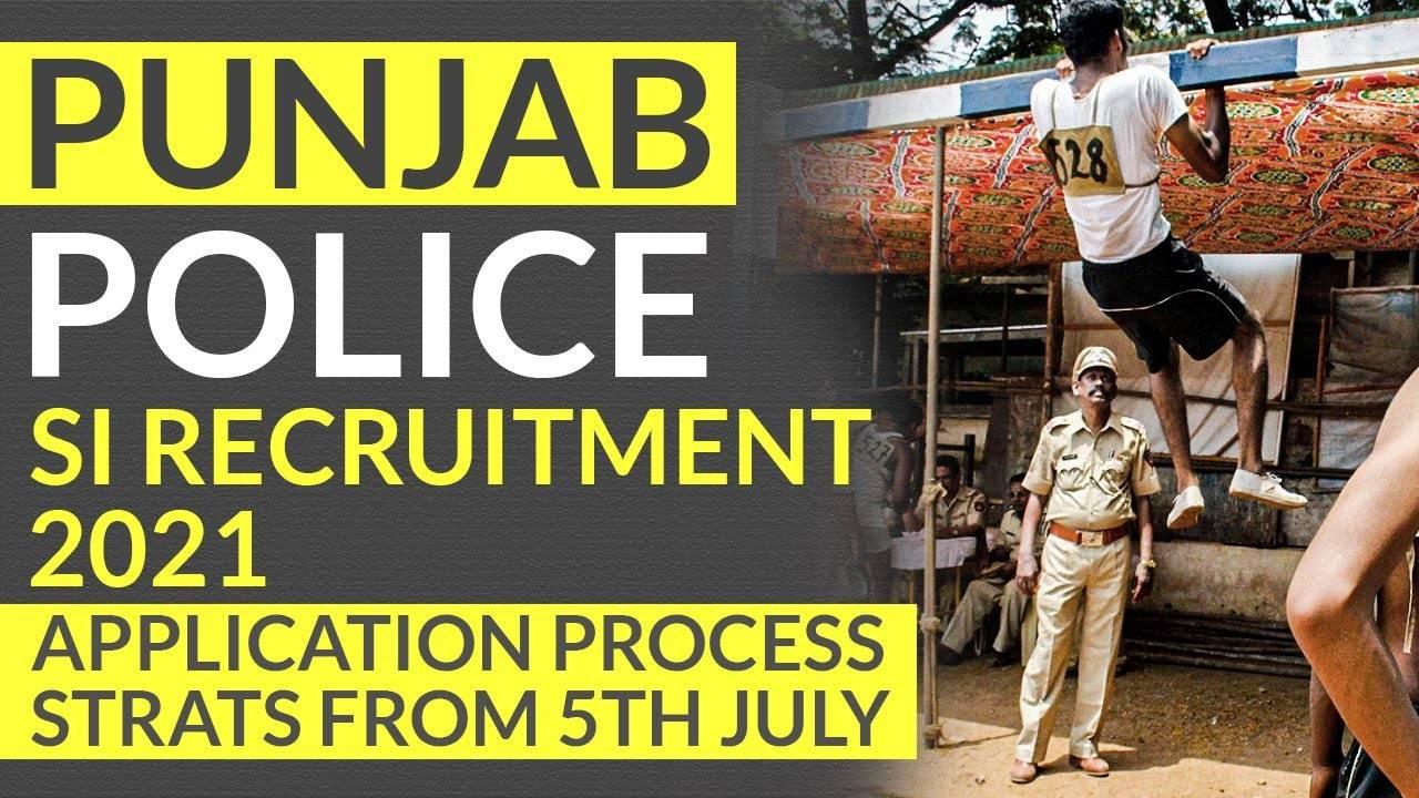 Punjab Police Recruitment 2021 Sub Inspector