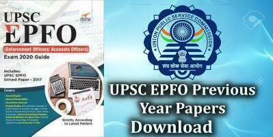 UPSC EPFO Previous Year Papers