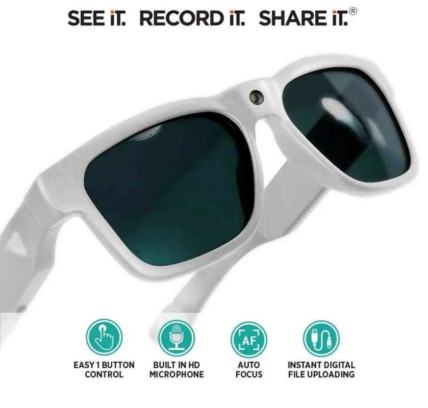 Video Camera Sunglasses Royale White 11