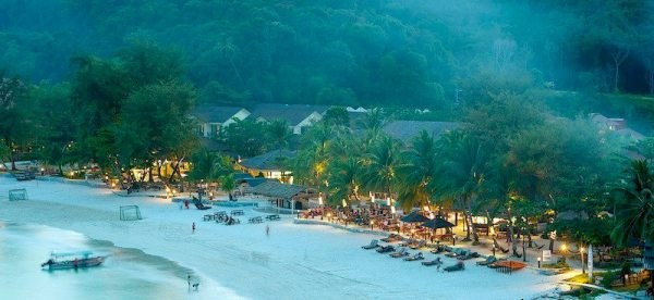 Redang Beach Resort Beach Front During Sunset