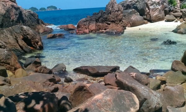 Snorkeling spot in front of Redang Reef Resort