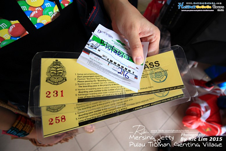 Ferry Boarding Pass to Tioman
