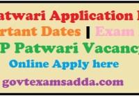 HP Patwari Application Form