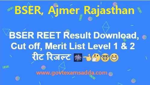 BSER REET Result 2021