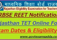 REET Notification 2019-20