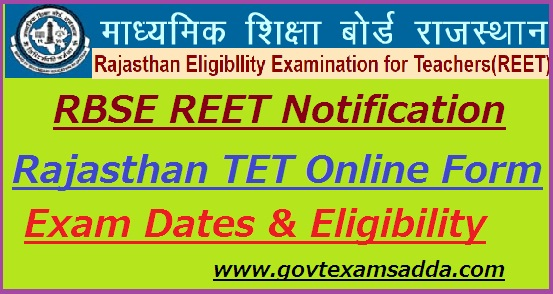 REET Recruitment Notification 2019-20