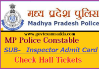 MP Police Constable Admit Card 2019