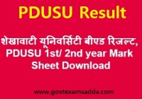 shekhawati university bed result 2019