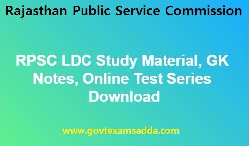 RPSC LDC Study Material Download