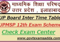 UP Board Intermediate Time Table 2019