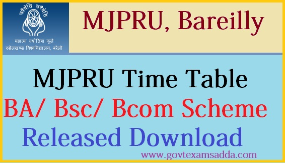 mjpru time table 2018