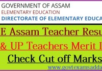 DEE Assam Teacher Merit List 2020
