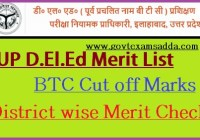UP D.El.Ed Merit List 2020