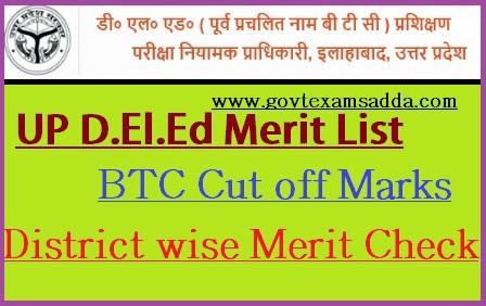 UP D.El.Ed Merit List 2021