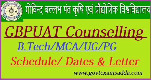 GBPUAT Counselling 2019