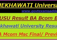 Shekhawati University Result 2018