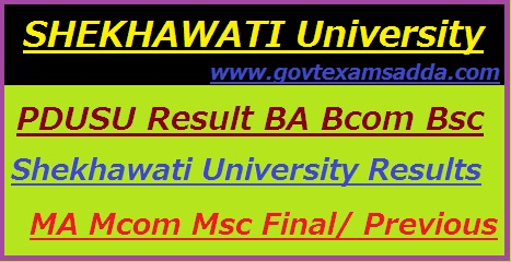 Shekhawati University Result 2020
