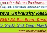 Matsya University Result 2018