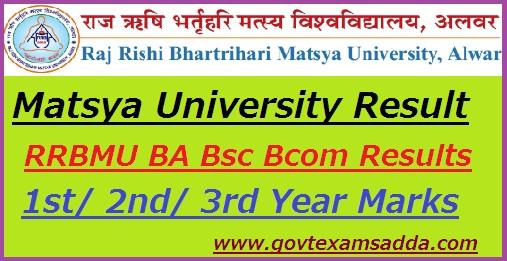 Matsya University Result 2019