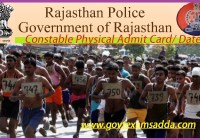 Rajasthan Police PET Admit Card 2020