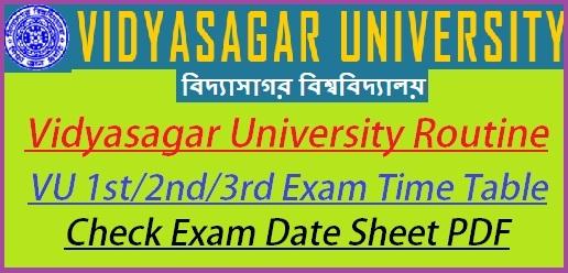 Vidyasagar University Routine 2019