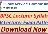 WBPSC Lecturer Syllabus 2019-20