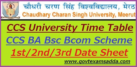 CCS University Time Table 2019