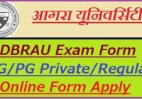 Agra University Exam Form 2019