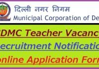 South Delhi Municipal Corporation Recruitment 2021