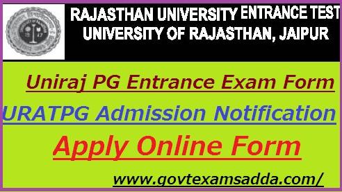 Rajasthan University PG Entrance Exam Form 2019