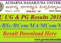 Acharaya Nagarjuna University Result 2019