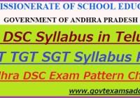 AP DSC Syllabus 2020