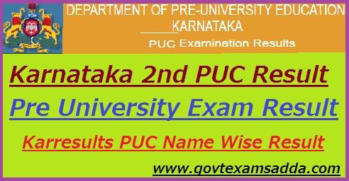 Karnataka 2nd PUC Result 2019