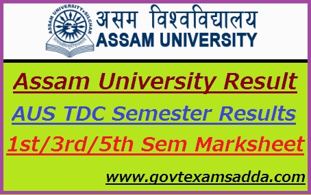 Assam University Result 2018-19