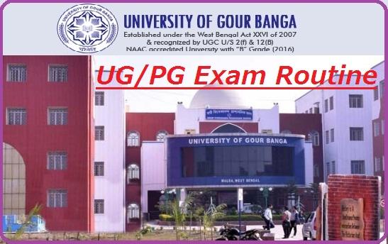Gour Banga University Exam Routine 2019