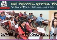 Utkal University Exam Routine 2020