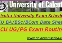 Calcutta University Exam Schedule 2020