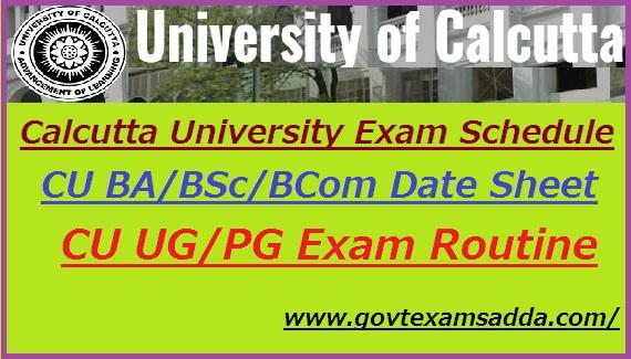 Calcutta University Exam Schedule 2019