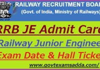 RRB Junior Engineer Admit Card 2019