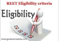 REET Eligibility Criteria 2019-20
