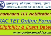 Jharkhand TET Notification 2019