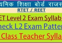 REET Level 2 Syllabus 2019-20 PDF