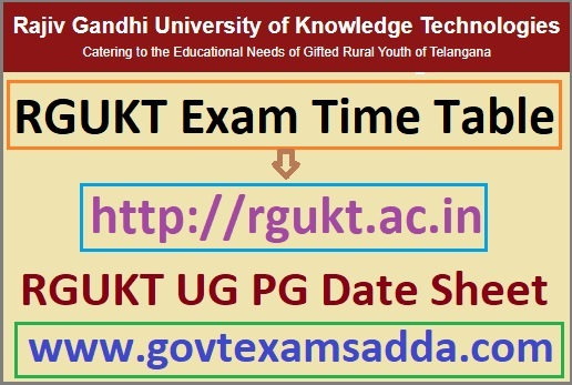 RGUKT Exam Time Table 2021