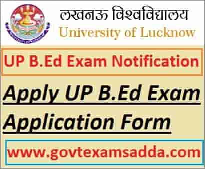 UP B.Ed Entrance Exam Online Form 2021